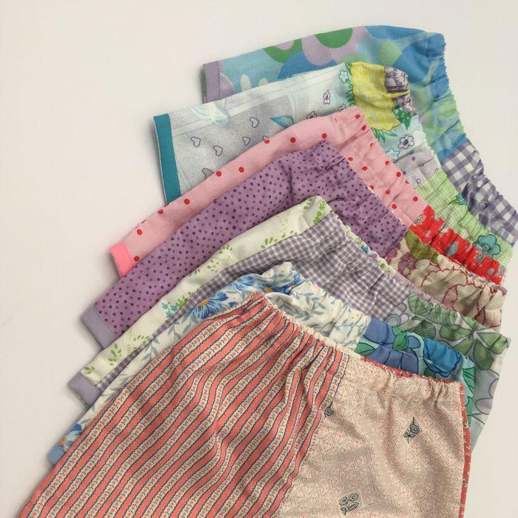 Vintage fabrics handmade girls clothing shorts Mum kids @lueysmum