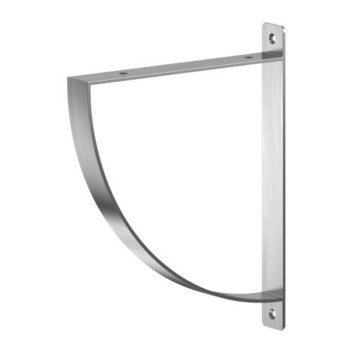 EKBY ROBERT Soporte IKEA Al ser reversible, sirve para baldas de 19 y 28 cm de fondo.