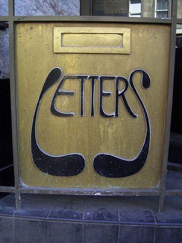 Art Nouveau Letter Box                                     words, words, words..................