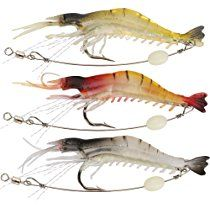 Shelure Soft Lures Shrimp Bait Set, Freshwater/ Saltwater, Trout Bass Salmon