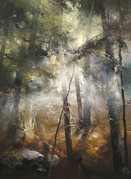 The artist Petras Lukosius.  LESONA light.  Hudozhnik-Petras-Lukosius.-Lesonoy-svet