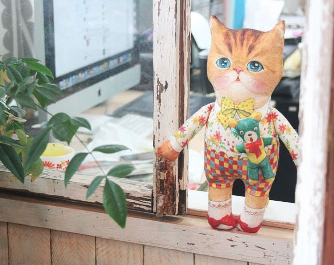 D.I.Y Fabric no.2/Uncle cat/Checked pants/cat/himalayan/Persian/cut/sew/panel