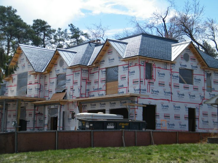 Going to be a gorgeous slate roof once completed!
