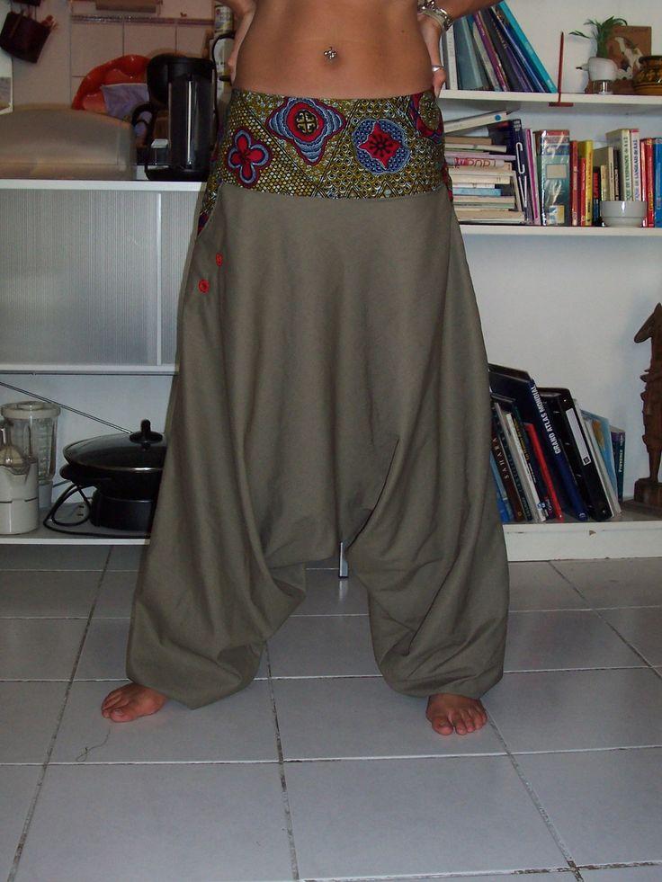 """sarouel+femme+""""lilo+sude""""+,+taille+basse+,+ceinture+ethnique+:+Pantalons,+jeans,+shorts+par+lilo-sude                                                                                                                                                      More"""