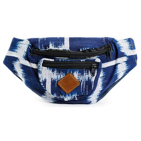 Summer festivals, day-long shopping trips, or all day hikes call for hands free storage of all your necessities. The Baja Bags Indigo and White fanny pack is just what you need to hold your phone, wallet, and car keys without worrying about dropping or losing them. This 3 pocket hip pack features denim and cotton construction with study waist strap, plastic buckle, and full lining. Sport it with any outfit and dance, shop, or walk hands-free.