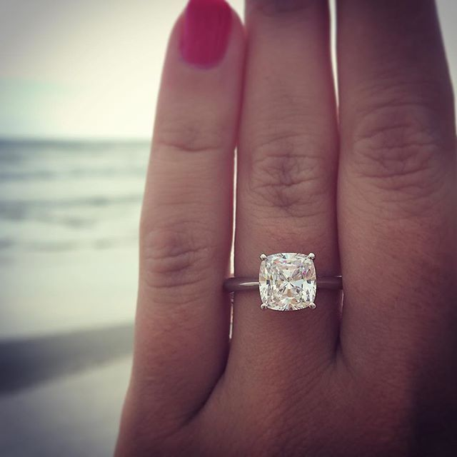 Best 25 Solitaire Cushion Cut Ideas On Pinterest
