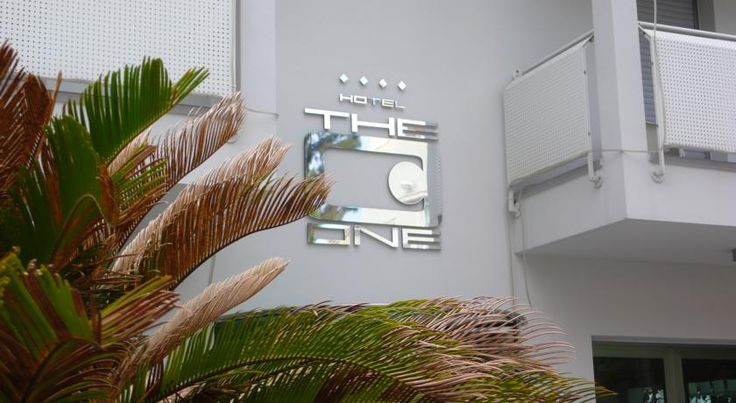 Hotel The One Riccione This 4-star stylish hotel is located halfway between Riccione Train Station and the beach, both a 5-minute walk away. It offers modern soundproofed rooms with Sky TV.  The elegantly furnished rooms of Hotel The One are decorated in relaxing colours.