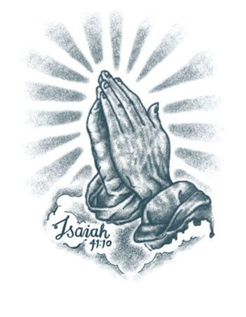 praying hands tattoo