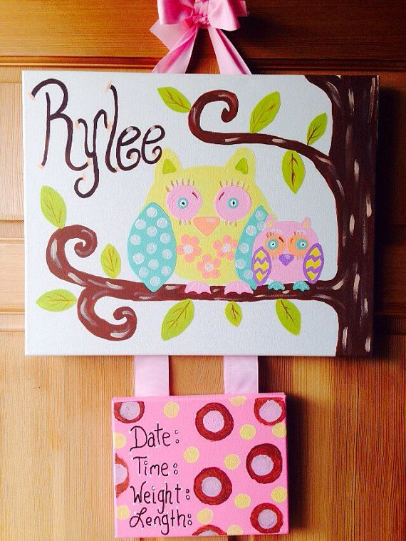 Hospital Door Hanger/Baby Announcement on Etsy, $30.00