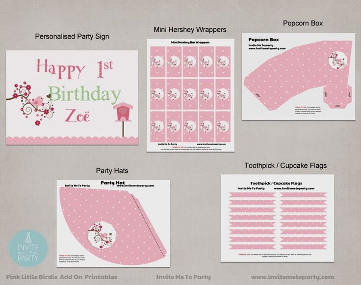 Little Birdie Party / Little Birdy Party Invite Me To Party: Little Birdy Party / First Birthday Party