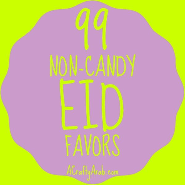 A Crafty Arab: 99 Non-Candy Eid Favors {Resource}. I am always on the look out for Arab cultural and Eid favors to put in our gift baskets or gift boxes during the holidays.  It seems to be hard to find unique Islamic Ramadan or Hajj themed favor gifts for a modern Muslim celebration.  On this blog, I've shown how to make …