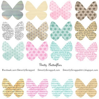 Different styles of printable butterflies.... #free #printable #butterfly #spring