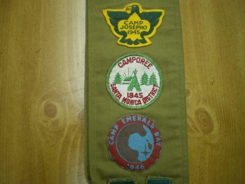 1940-039-s-Boy-Scout-Uniform-with-Eagle-and-MB-Sash-Camp-Josepho-41-45-Felt-Patches
