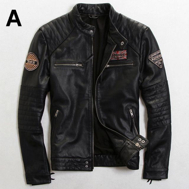 2015 Il Nuovo Fare il vecchio Slim uomini di modo Britannico Tendenza Multi-Standard di Usura Degli Uomini Uomini giacca moto giacche di pelle da