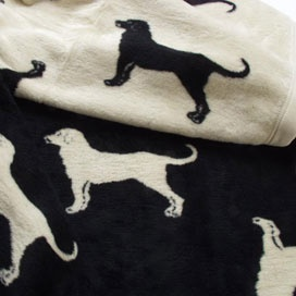 Black Lab Throw Blanket from PoshLiving