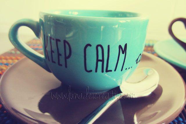 Rendi la Tua Tazza Unica e Speciale...Con un semplice Pennarello! by www.lunadeicreativi.com  #Sharpie #Porcelaine #DIY #Mug #Coffee