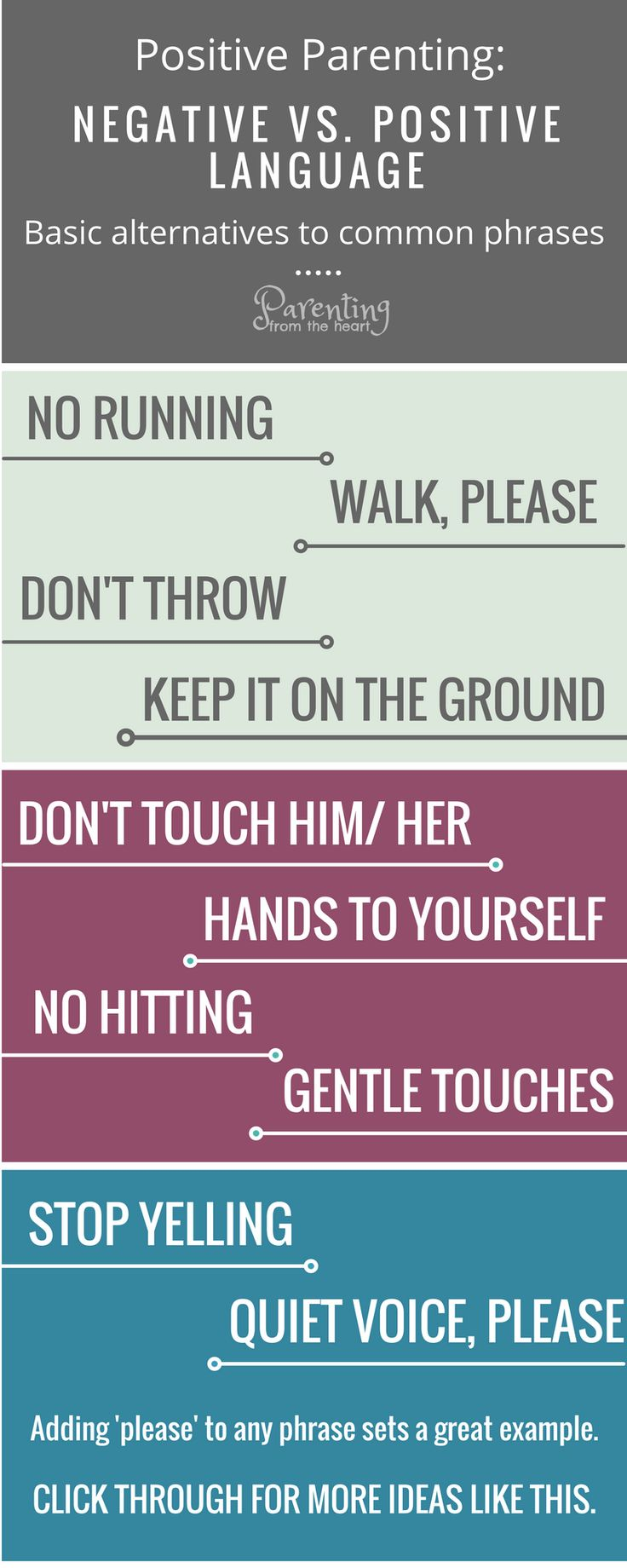 Negative language impacts our children. Find more effective positive parenting alternatives to these phrases. These positive parenting strategies are perfect for parenting toddlers and preschoolers. Authoritarian parenting, attachment parenting, positive discipline