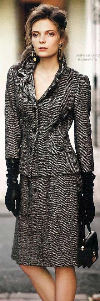 Herringbone   The House of Beccaria.  Gorgeous (and a herringbone tweed suit always looks classy!)