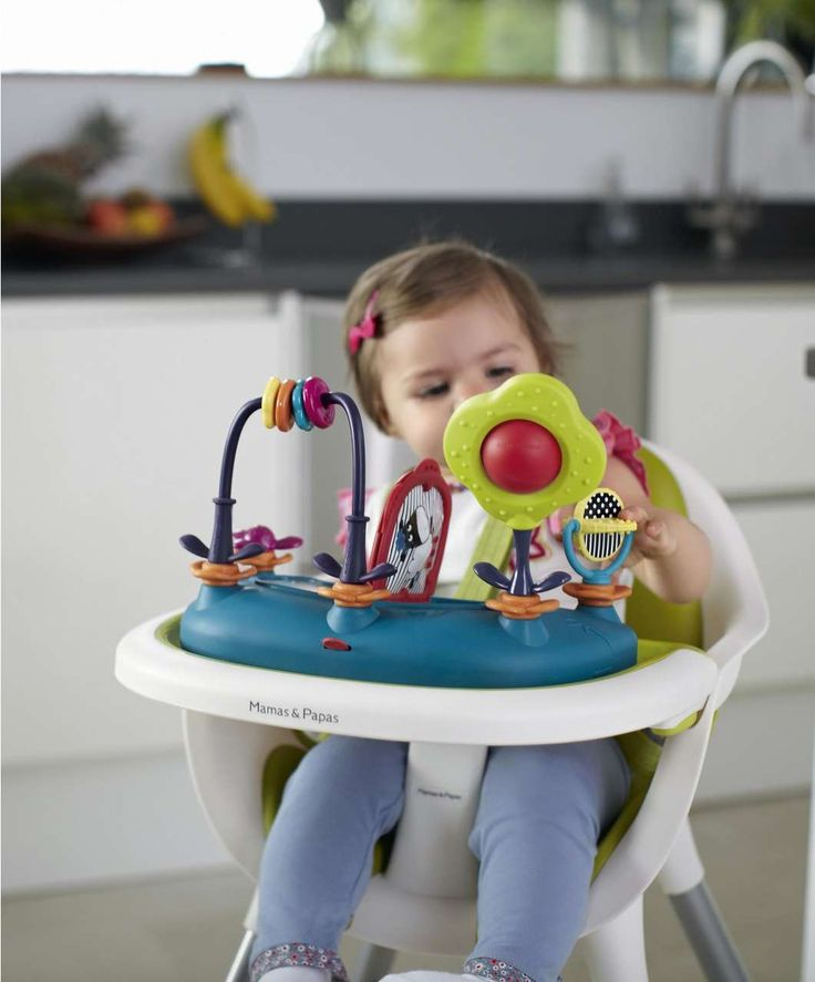 - 2-in-1 function so child can join the family at mealtimes in highchair, or relax in junior chair as they grow - Highchair is suitable from 6 months up to 3 years approx. - Junior Chair is suitable from when your child can sit unaided up to 5 years approx. - Easy to clean with a one piece seamless removable seat pad - Crotch post for added safety - Crotch post removes when converted into low chair - Five point safety harness - Safety harness removes for low chair