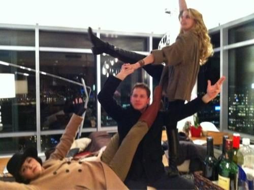 once upon a time the Charmings family photo. Lol, how can you not love them?