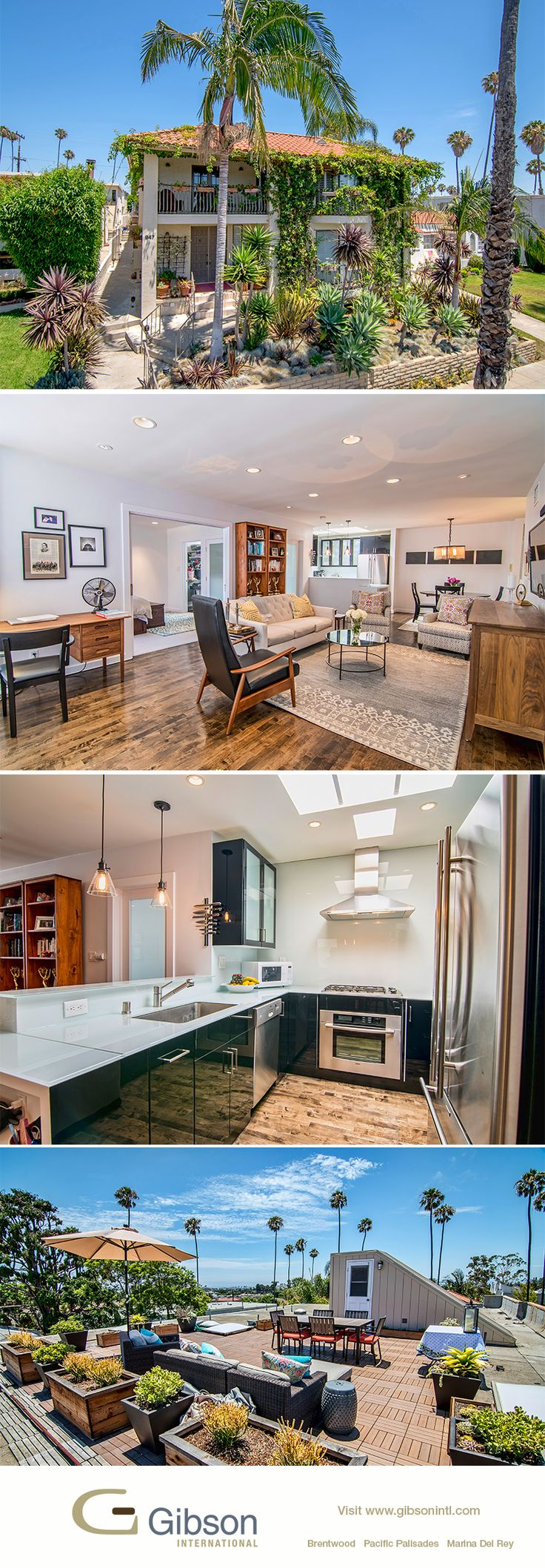 Ultra-modern ocean view Penthouse. Located in Mid-City Santa Monica close to Montana Ave shopping and dining. Low HOA dues. Open 8/14 with agents Matt and Kelli Isbell.