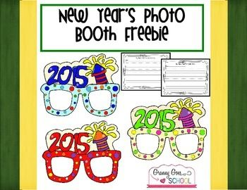 Help yourselves to this fun New Year's Photo Booth Freebie.  Props are ready to copy, laminate, and use.  One writing prompt is included (both primary and secondary writing paper is also included). This activity makes for a delightful New Year bulletin board.