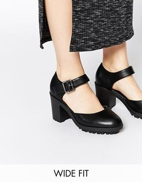 New Look Wide Fit Safeguard Cleated Shoe Heeled Shoes