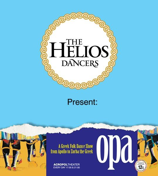 The Helios Dancers assigned to ThinkBAG the strategic marketing & the advertising campaign of OPA SHOW, a Greek Folk Dance Show from Apollo to Zorba. We created the brand OPA SHOW and the corporate logo, The Helios Dancers.  Our provided services comprise of: Naming | Design Logo | Advertising Concept | Full Corporate ID