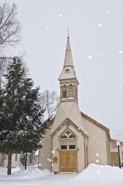 Community Presbyterian Church, the oldest protestant church on the Western Slope of Colorado built in Lake City in 1876.