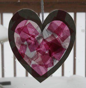 tissue-paper-heart-craft
