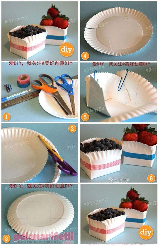 Plastik tabaklardan meyve kasesi yapımı | Geri Dönüşüm | Pek Marifetli!