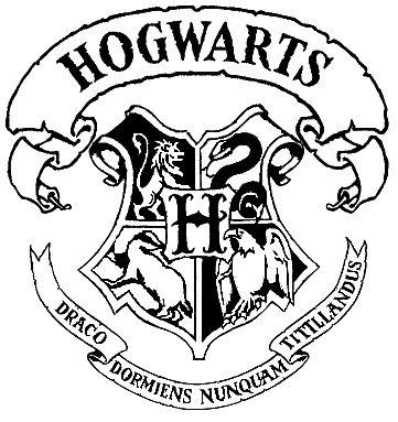 Hogwarts crest stencil