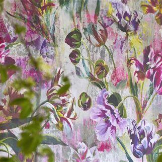 Tulipa Stellata Fuchsia Wallpaper   Designers Guild