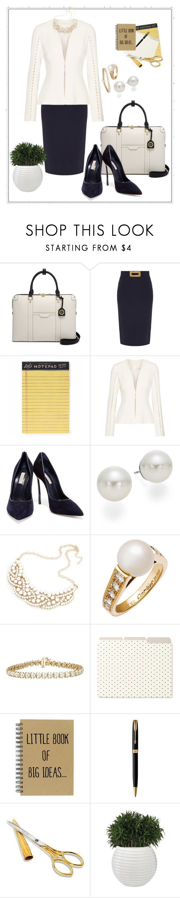 """Workweek Wednesday- 4-26-17"" by mary-kay-de-jesus ❤ liked on Polyvore featuring Henri Bendel, Goat, Rifle Paper Co, Jonathan Simkhai, Casadei, AK Anne Klein, Cartier, Kate Spade and Parker"