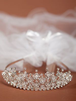 First Communion Veil with Crown