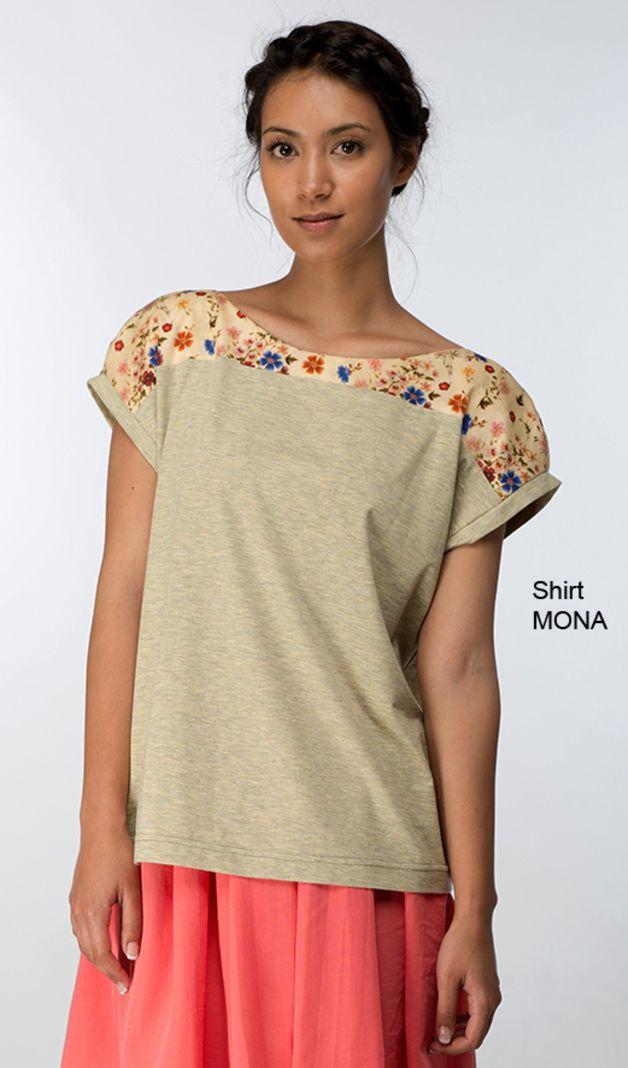 Kurzarmblusen - Kurzarm Bluse T-shirt Passenshirt VIOLA flieder - ein…