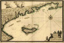 1700: Plan de l'Ile a Vache & coste de St. Domingue de puis la pointe de l'Abacou iusquau cap de l'est d'Yaquin