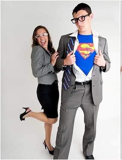 Clark Kent and Lois Lane! Cute couple Costume idea