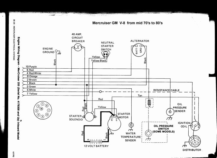 Luxury Wiring Diagram Mercruiser Alternator  Diagrams  Digramssample  Diagramimages