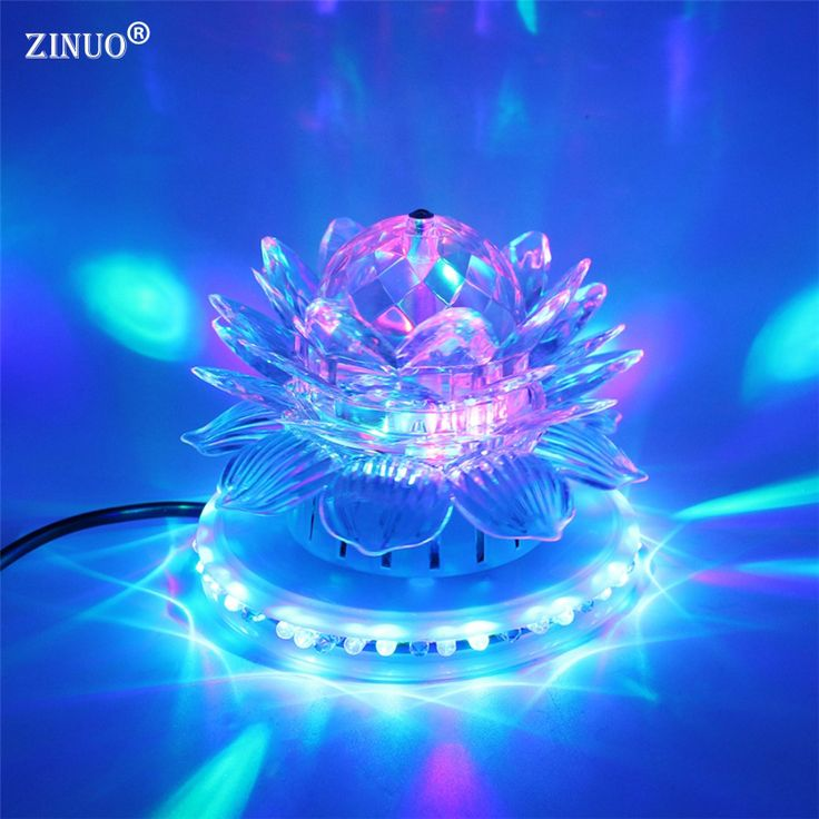 ZINUOa Partie RGB LED Stade Lampes Auto Rotation Cristal Magique balle Tournesol Étape Effet D'éclairage Lampe Ampoule Disco Club DJ lumière