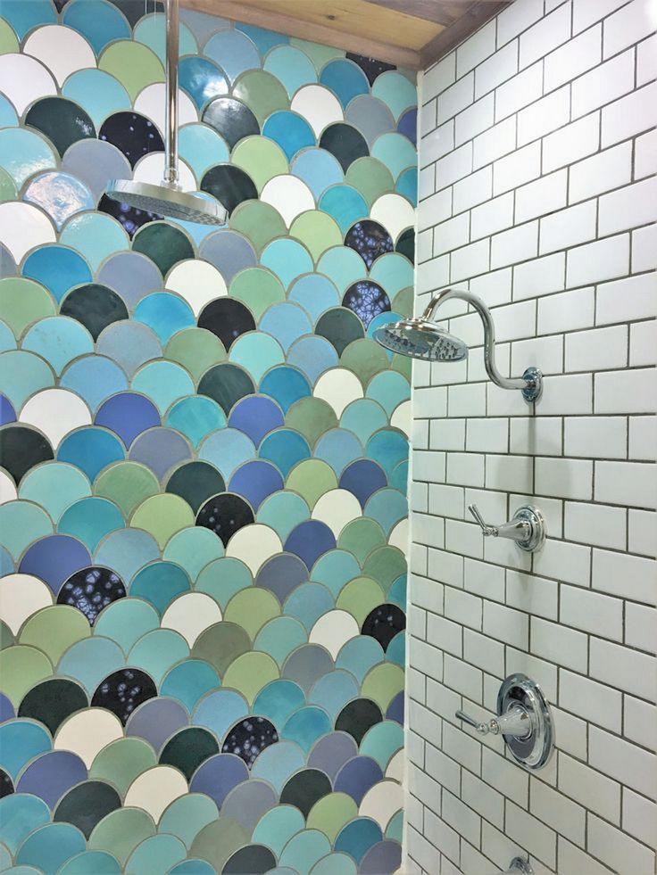 Pics Of  Beautiful Fish Scale Tile Bathroom Ideas