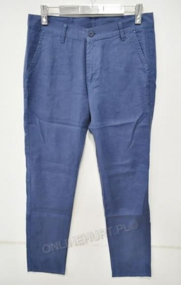 Spodnie Męskie Lniane Artista 496  _E1 (30-36) niebieski