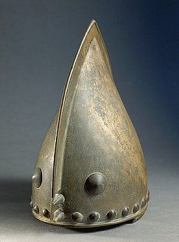 Celtic helmet from the bronze age.