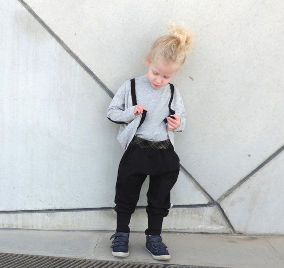 Toddler  Harem Pants - Boys Girls Harem Pants - Toddlers Baggy Pants - Cool Black Pants - Hipster Toddler Fashion - Kids Harems Pants - SALE