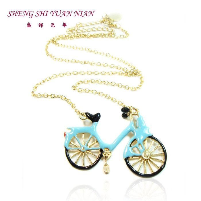 Free shipping 2015 Europe and the United States popular jewelry light blue British bicycle short necklace female ornaments  //Price: $US $1.79 & FREE Shipping //     #fans #play #playing #player #field #green #grass #score   #goal #action #kick #throw #pass #win #winning