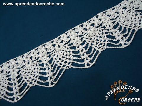 step by step Barrado de Croche Abacaxi - Aprendendo Crochê