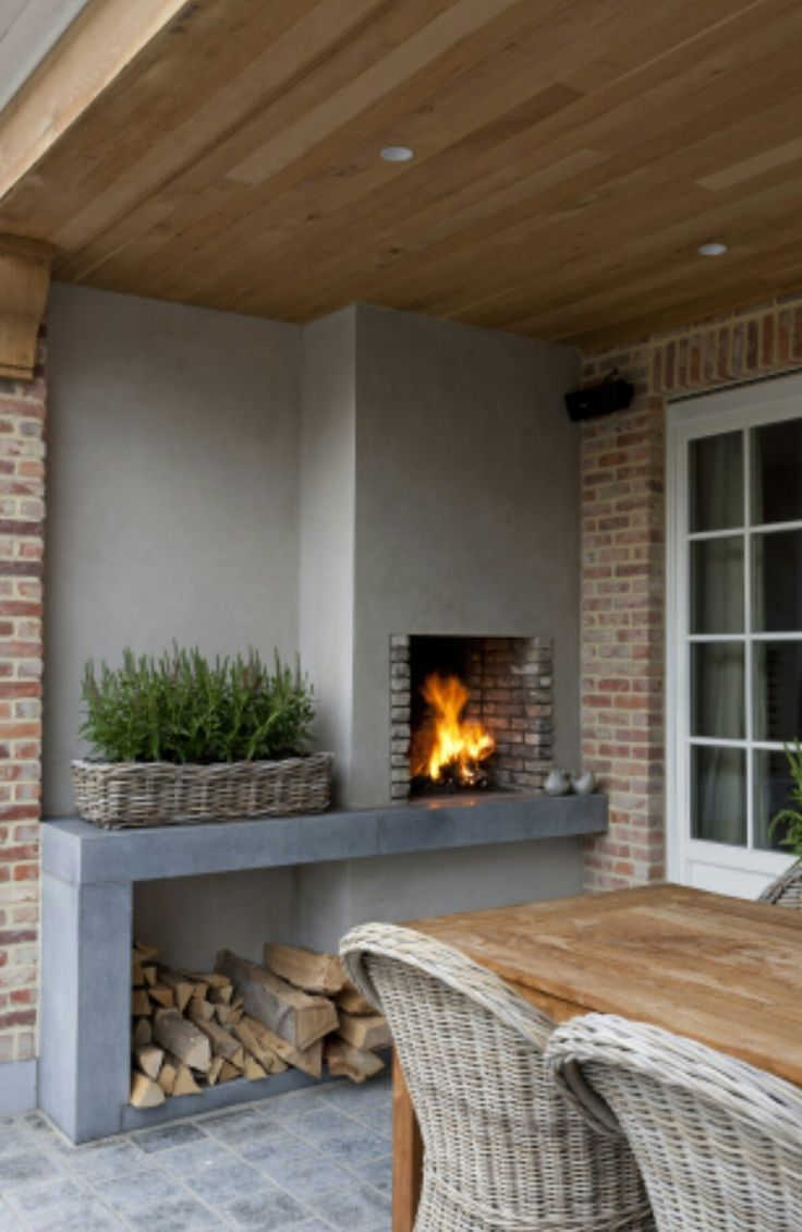 Leben im offenen Garten mit Kamin  #garten #kamin #leben #offenen #terracedesign