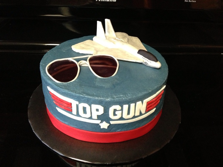 Gun Cake Decorating Ideas : Top gun themed cake made with all fondant decorations ...