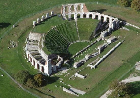 Roman Theatre, Gubbio, Umbria, Italy