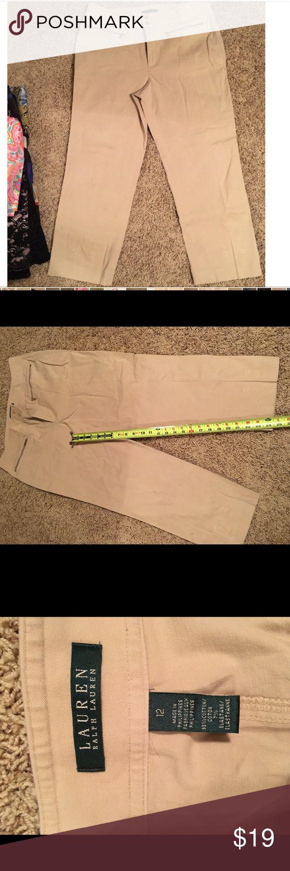 Lauren Ralph Lauren chino Khaki 12 capris Cotton chino size 12 Capris khaki pants. Ralph Lauren Ralph Lauren Pants Capris